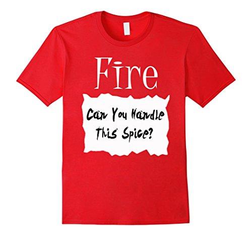 Costume Ideas For Men Halloween (Mens Fire Hot Sauce Packet Halloween Costume Taco T-shirt XL Red)