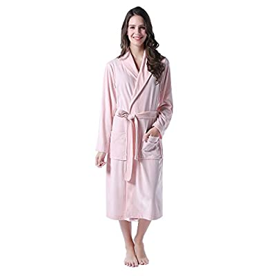 Richie House Women's Soft and Light Weight Velour Bathrobe Size S to L RHW2763
