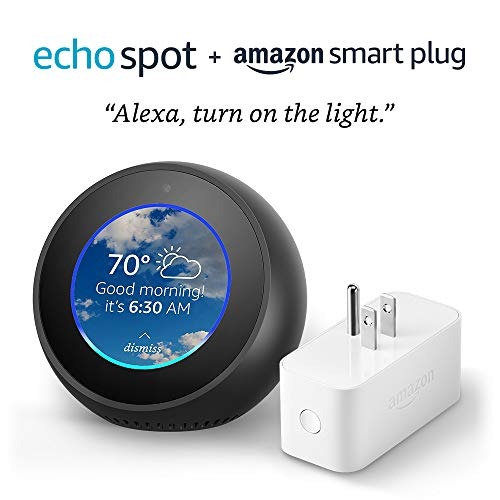 Echo Spot bundle with Amazon Smart Plug – Black