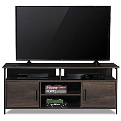 """Sekey Home 58"""" Entertainment Center Wood Media TV Stand 