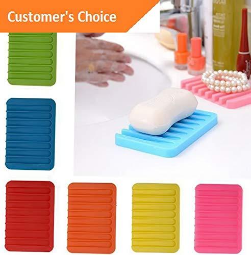 Hebel Bathroom Silicone Non-Slip Soap Dish Storage Holder Soapbox Plate Drain Box 6L | Model SPDSHS - 215 |