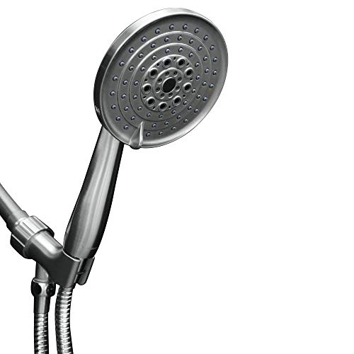ShowerMaxx | Luxury Spa Series | 6 Spray Settings 5 inch Hand Held Shower Head | Extra Long Stainless Steel Hose |MAXX-imize Your Shower with Easy-to-Remove Flow Restrictor | Polished Chrome Finish