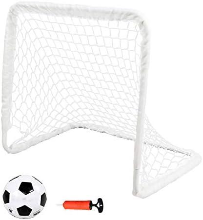 YOUGL Objetivos portátiles de fútbol para niños con balón y Bomba ...
