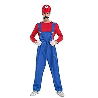 MOODECOR Disfraz de Super Mario Brothers de Halloween para Hombre ...