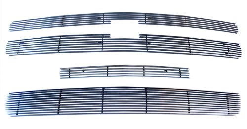 MaxMate 07-13 Chevy Silverado 1500 4PC Combo Horizontal Billet Polished Aluminum Grille Grill Insert