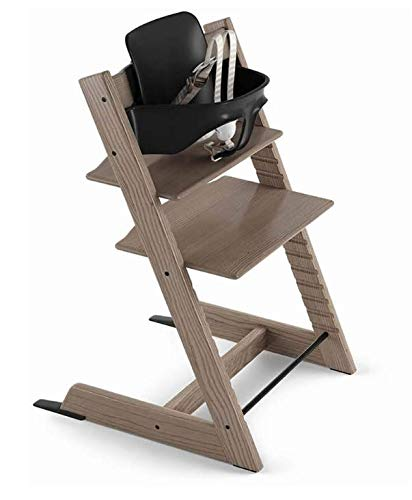 Stokke 2019 Tripp Trapp Ash High Chair, Includes Baby Set, Taupe