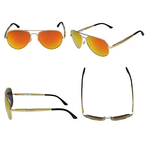 Duco Mirror para sol Red Gold Gafas hombre de CxCHnF4wq