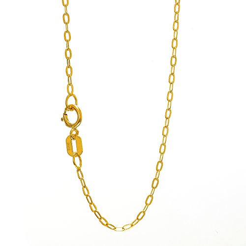 JewelStop 14k Yellow Gold 1.2mm Oval Cab - Gold Oval Cable Chain Shopping Results