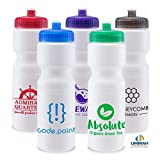 100 Promotional USA Made BPA Free 28 oz Sports Water Bottle Printed with Your Logo Or Message