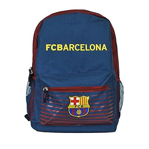 FC Barcelona Messi Soccer Backpack Schoolbag Adjustable Straps (Navy Barcelona)