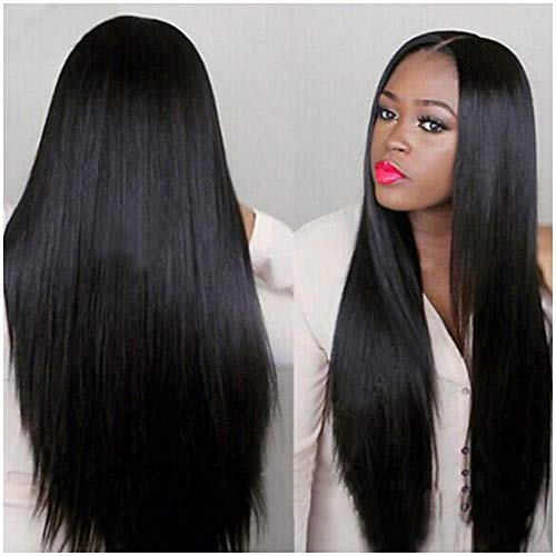 31 inch Black Straight Wigs For Black Women