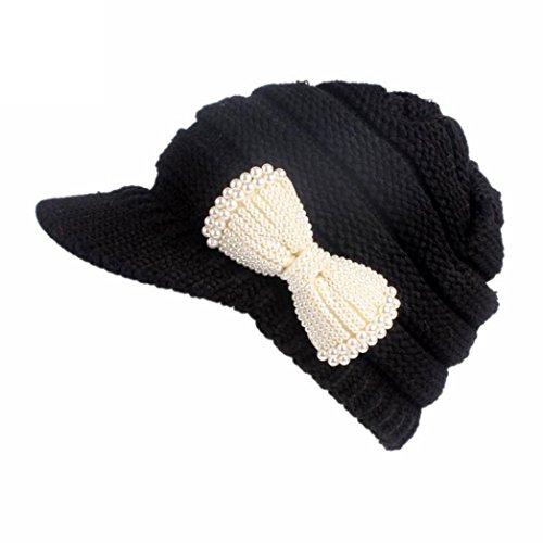 Aglia Da A Nero Cappello Donna Invernale Donna Turbante Visiera Per Yanhoo Berretto Con nIgTqw