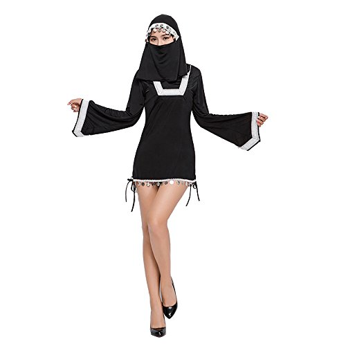 Cute Plus Size Witch Costumes (Sexy Nun Costumes For Women,Plus Size Cute Halloween Witch Clothing For Girls)