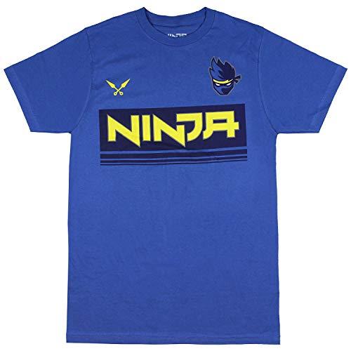 Ninja Shirt Men's NinjasHyper Logo Ninja YouTube T-Shirt (Medium) Blue
