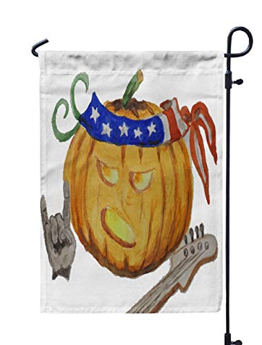 Shorping Welcome Garden Flag, 12x18Inch Watercolor Drawings No Background Pumpkin Halloween for Holiday and Seasonal Double-Sided Printing Yards Flags -
