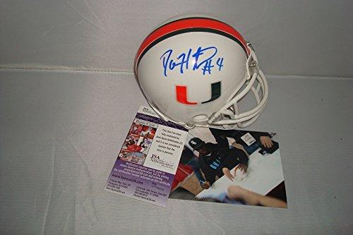 Devin Hester Signed Miami Hurricanes Mini Helmet, JSA Authentic W/ Picture