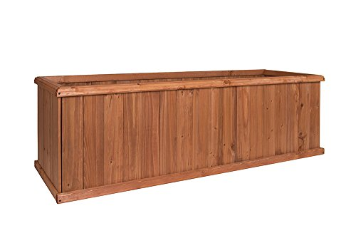Greenstone 100079 Churchill Cedar Planter Box, Large, Heartwood -