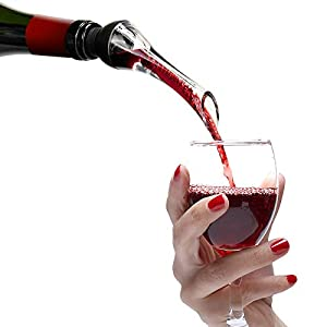 Wine Aerator Pourer - Premium Aerating Pourer and Decanter Fits All Wine Bottle