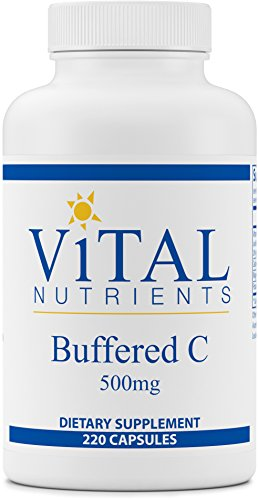 Vital Nutrients - Buffered C 500 mg - Gentle Vitamin C for Sensitive Individuals - 220 Capsules