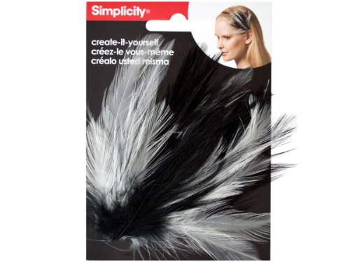Wholesale Simplicity Feather Plume Headband Accent - Set of 48, [Hair Care, Hair Bands & Scrunchies]]()