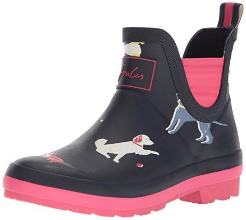 Joules Girls' JNRWELLIBOB Rain Boot Navy Sunday Best Dog 2 Medium US Infant