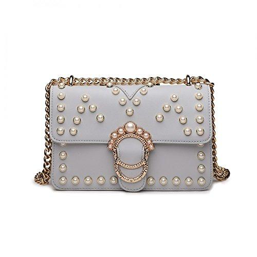 Pearl Bag Chain Shoulder Pearl Ladies Messenger Handbag Studded Studded zq1A51