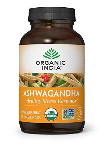 Organic India Ashwagandha Capsules, 180 Count by Organic India