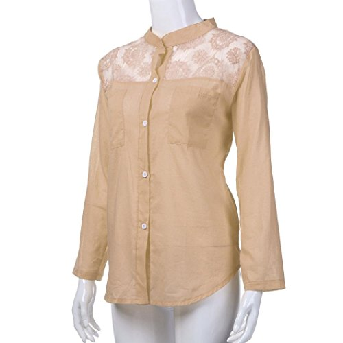 Xmiral Uni Chemisier Beige Taille Empire Col cass Femme Cw1fAqCF