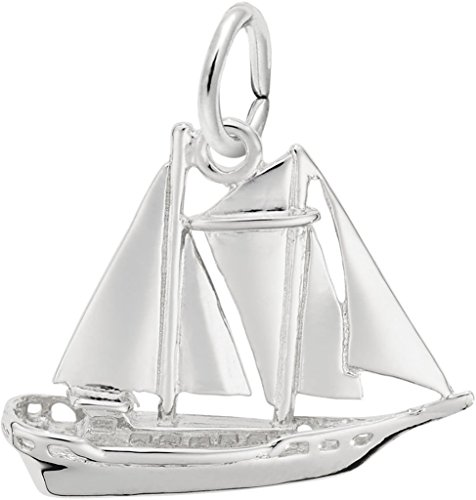 Rembrandt Schooner Sailboat Charm - Metal - 14K White Gold