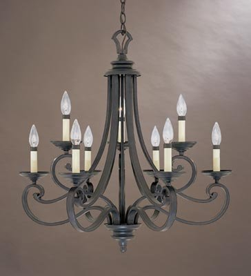 Designers Fountain 9039-NI Barcelona 9-Light Chandelier, 27.75