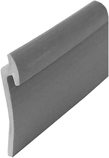 Angled Gray Vinyl Framed Shower Door Drip Rail 36 Long Shower Door Sweep Amazon Com