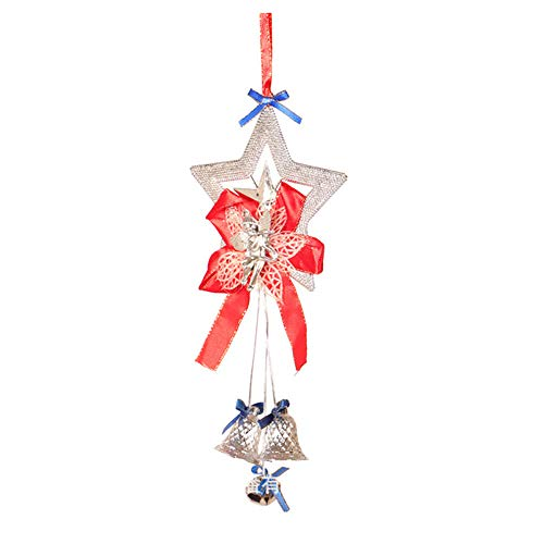 SMTSMT-Wall Stickers Christmas Tree Hanging Bells Jingle Pendant Xmas Party Decoration Ornaments Gift