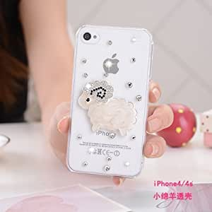 Suit for Apple iphone 6/6plus new tide lovely female thin transparent diamond