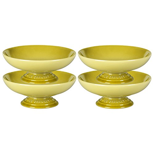 Le Creuset Soleil Yellow Stoneware Footed Serving Bowl, Set of 4 ()