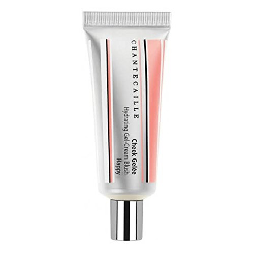 Chantecaille Cheek Gelee in Happy, a gel-cream blush in a soft rose pink; perfect for adding a rosy glow to your cheeks and lips. CCGH