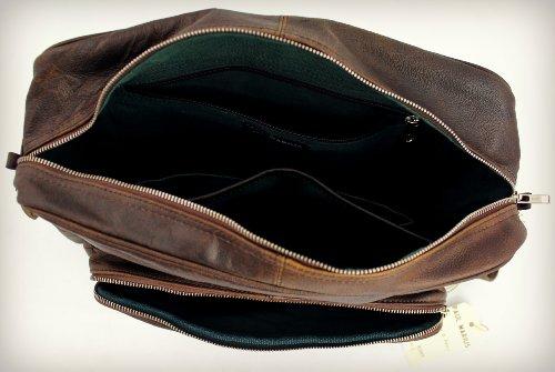 INDUS' couleur PAUL style Vintage bandoulière Sac cuir LE A4 MARIUS RÉTRO q16PE