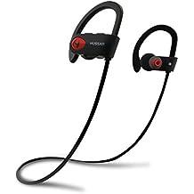 [Patrocinado] Hussar Deportes inalámbrica Bluetooth auriculares, auriculares con micrófono, IPX7impermeable, sonido HD con Bass, cancelación de ruido, Secure Fit, 8Horas de Reproducción para iPhone Android (Nueva magicbuds)