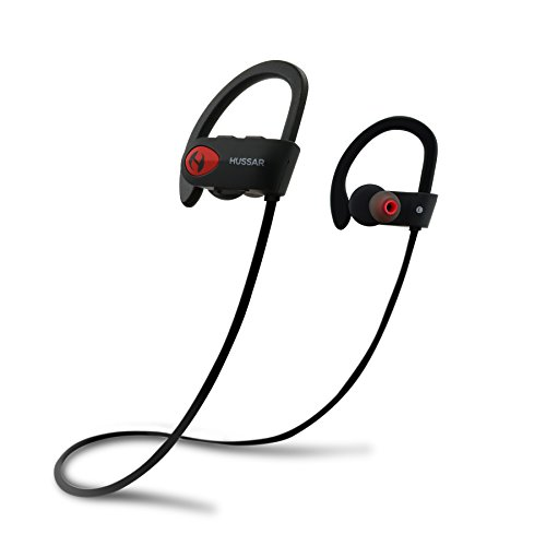 Hussar Bluetooth Headphones, Wireless Sports Earphones with Mic, IPX7 Waterproof, HD Sound with Bass, Noise...
