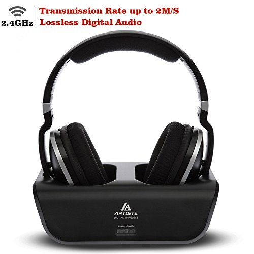 Wireless TV Headphones, Artiste ADH300 2.4GHz Digital Ove...