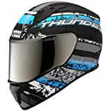 Studds Thunder D1 With Mirror Visor Matt Black N1 Full Face (Size-L/580mm)