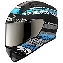 STUDDS THUNDER D1 DECCOR WITH MIRROR VISOOR (D1 MATT BLACK N1, SIZE, L) (D1 MATT BLACK)