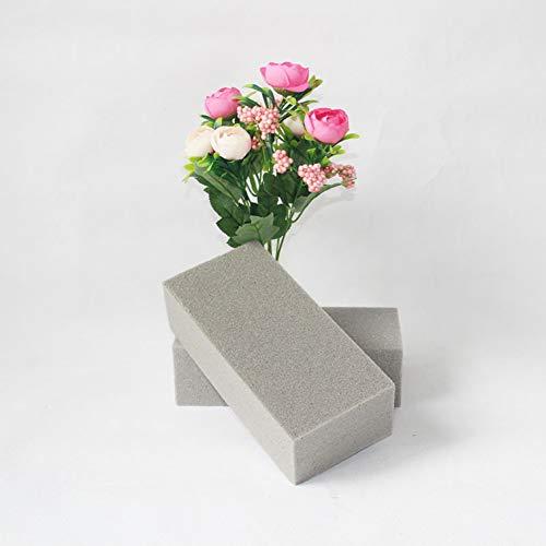 GWOKWAI 2Pcs Floral Foam Blocks, DIY Flower Arrangement Bricks, Gray Rectangle Foam Brick Cube for Florist Table Wedding Party Decoration Foam Kit from GWOKWAI