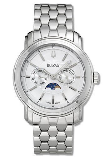 Bulova Men's 96C34 Moon Phase Watch (Bulova Moonphase)