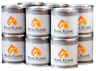 - Real Flame Company 13 Ounce Premium Gel Fireplace Fuel Lasts Up to 3 Hours, 13 oz
