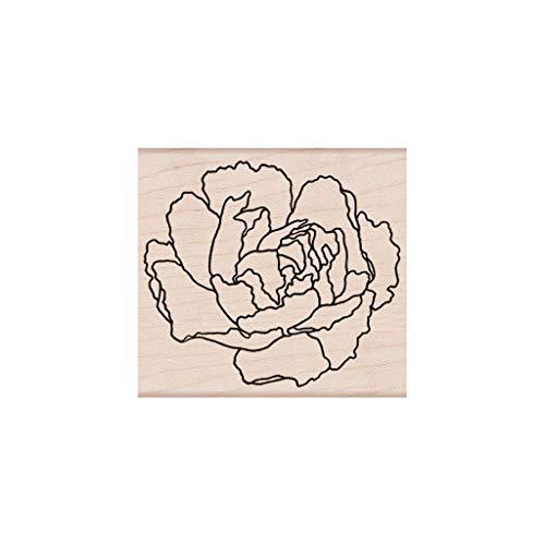 (Hero Arts K6284 Woodblock Stamps, Artistic Peony)