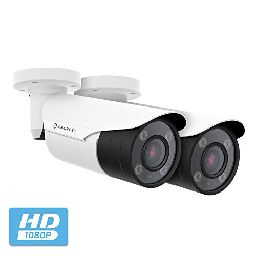 2-Pack Amcrest 4xOptical Zoom HD Bullet Outdoor Security Camera Quadbrid 4-in-1 HD-CVI TVI AHD Analog , 2MP 1920x1080P, 164ft NightVision, Motorized Varifocal Lens 40 -90 , 2PACK-AF-2MBC-VARIW