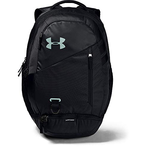 Under Armour unisex-adult Hustle 4.0 Backpack, Black (004)/Atlas Green, One Size Fits All