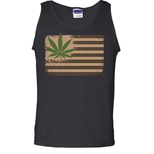 Pot-Leaf-Hemp-Flag-USA-Asst-Colors-Tank-Top