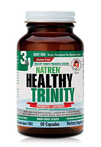 (Natren Healthy Trinity Dairy Free Probiotic Capsules, 60 Ct (Ships Cold))