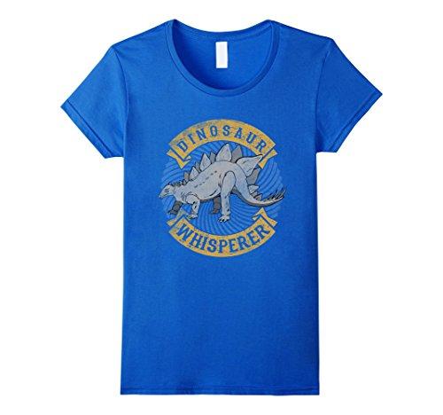 Female Predator Costumes (Womens Dinosaur Whisperer Costume Stegosaurus T Shirt Gifts Large Royal Blue)
